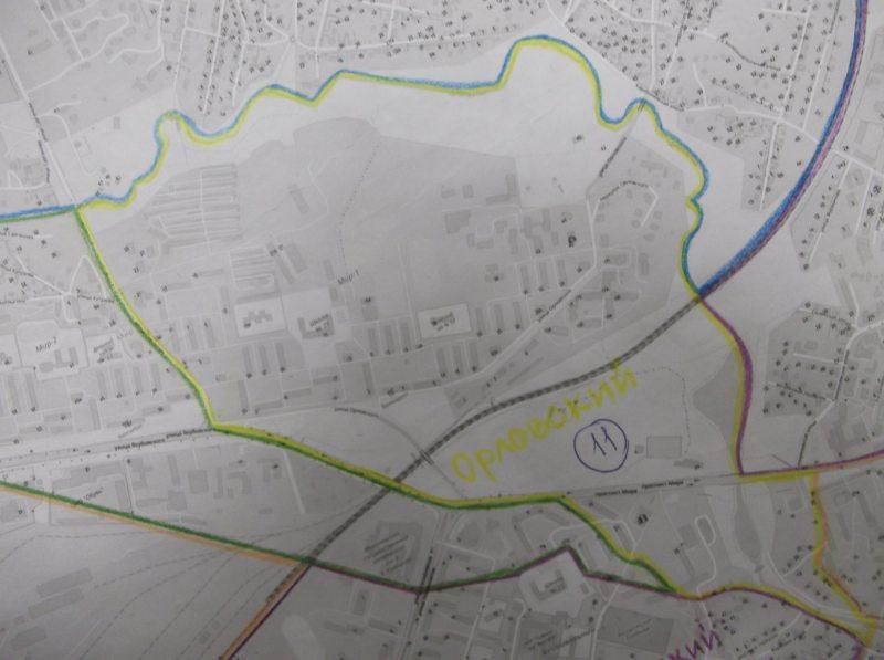 Мапа Арлоўскай выбарчай акругі №11 у Магілёве