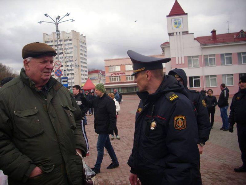 Мазыр. 26 сакавіка 2017 года. Рыгор Крывіцкі.