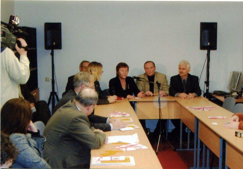 Сход у Доме правоў чалавека 30 студзеня 2007 года.