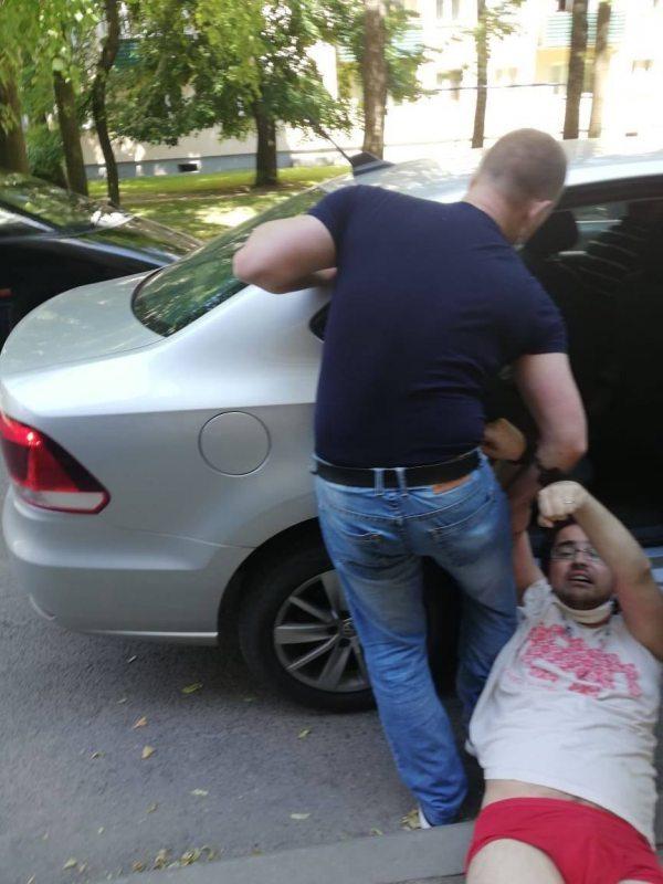 Задержание Сергея Спарыша. Фото: телеграмм-канал
