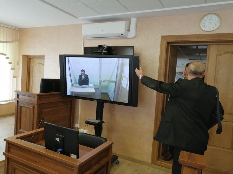 Сергей Тихановский на суде через видео-связь. Фото: Гарадзенская Вясна