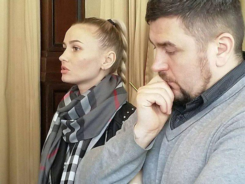 Аляксандра Якавіцкая і Андрэй Палуда