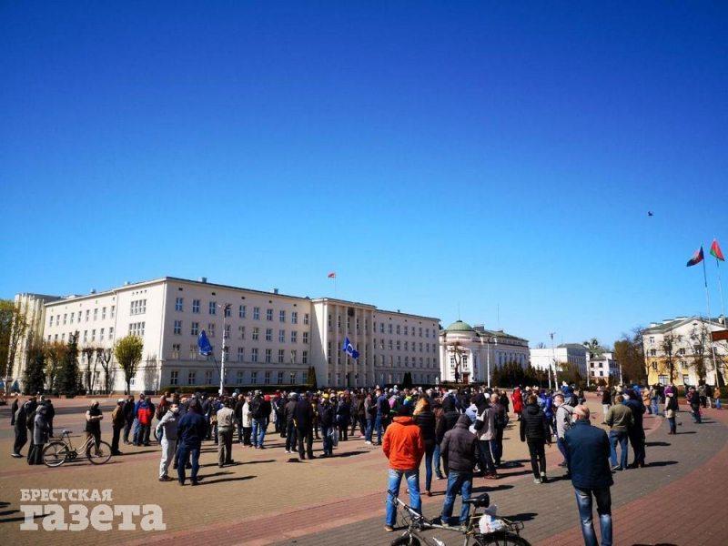 Акция на площади против завода АКБ 19 апреля. Фото