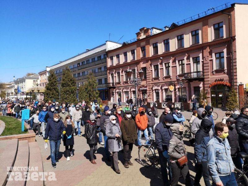 Шествие против завода АКБ 19 апреля. Фото
