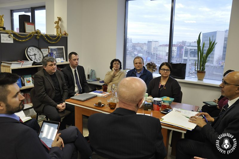 Mr. Harlem Désir, OSCE Representative on Freedom of the Media, duirng a meeting with members of the Belarusian Association of Journalists and representatives of independent media. Minsk, March 18, 2019. Photo: baj.by