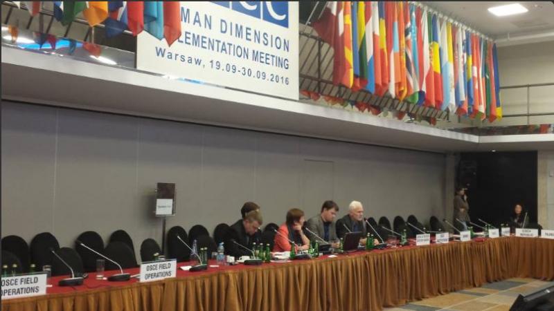 Представители белорусских правозащитных организаций на конференции ОБСЕ по человеческому измерению. Фото из соцсетей