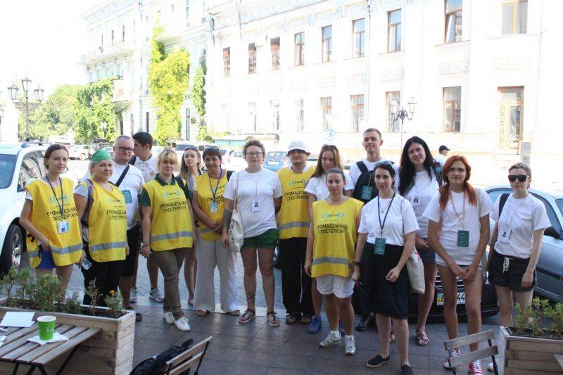 Украинские наблюдатели из «ОЗОН» и волонтеры Правозащитного центра «Весна» в качестве представителей Международной сети наблюдателей