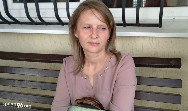 Елена Печко перед судебным заседанием