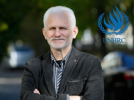 United Nations Human Rights Committee adopts a landmark decision in the case of Ales Bialiatski. Photo: Siarhei Hryts