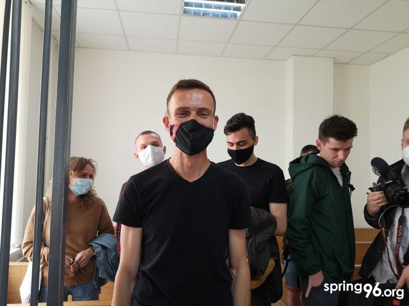 Александр Поплавский после судебного заседания