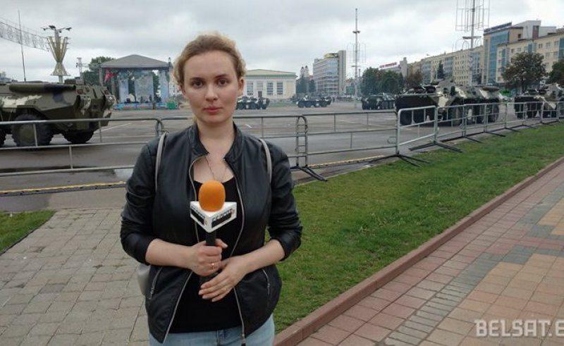 Belsat journalist Katsiaryna Andreyeva