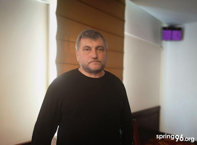 Andrei Bastunets, chairman of the Belarusian Association of Journalists