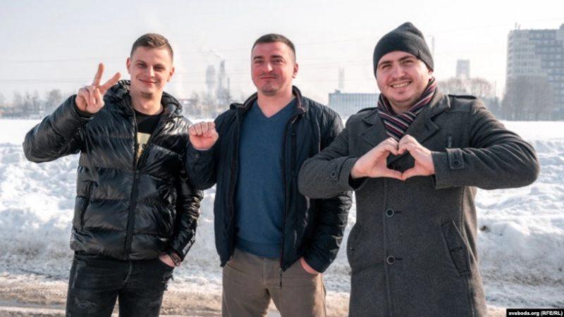 Сяргей Шэлест, Андрэй Пагярыла, Аляксей Сідар. Фота: svaboda.org