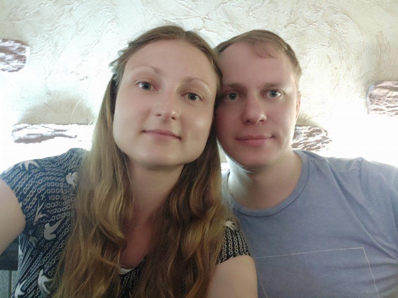 Евгения Бабаева и ее муж Вячеслав