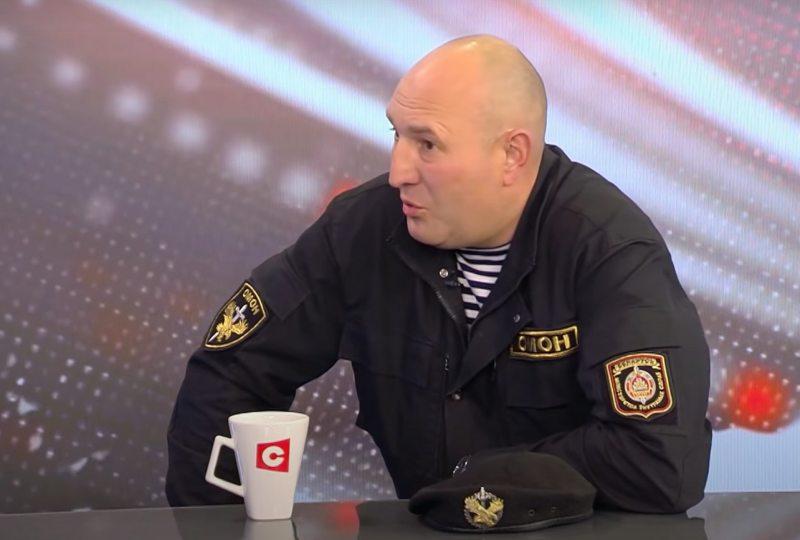 Камандзір АМАП ГУУС Мінгарвыканкама Дзмітрый Балаба. Скрыншот СТВ