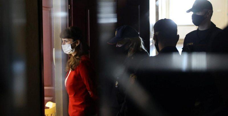 Кацярына Барысевіч у судзе / Reuters