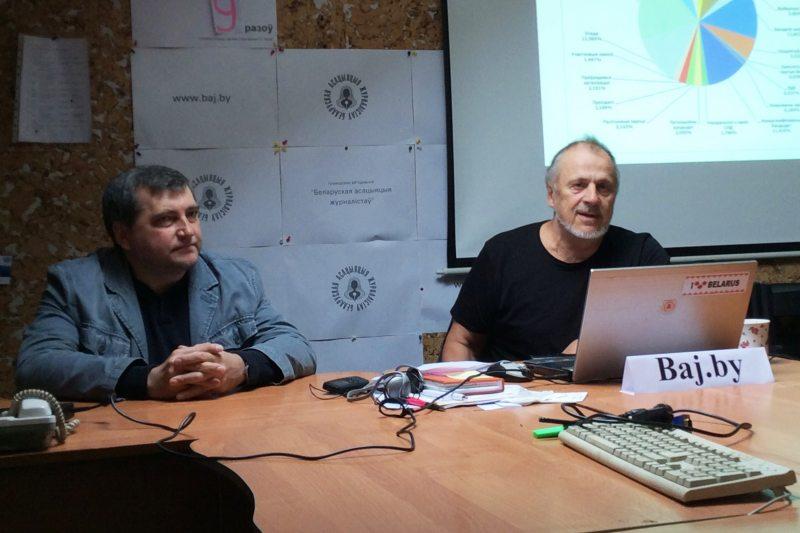 Эксперты БАЖ Андрэй Бастунец і Алесь Анціпенка
