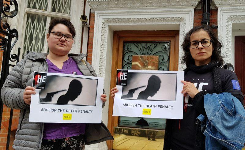 Каардынатарка Amnesty International па Беларусі Айша Юнг і сябра ПЦ