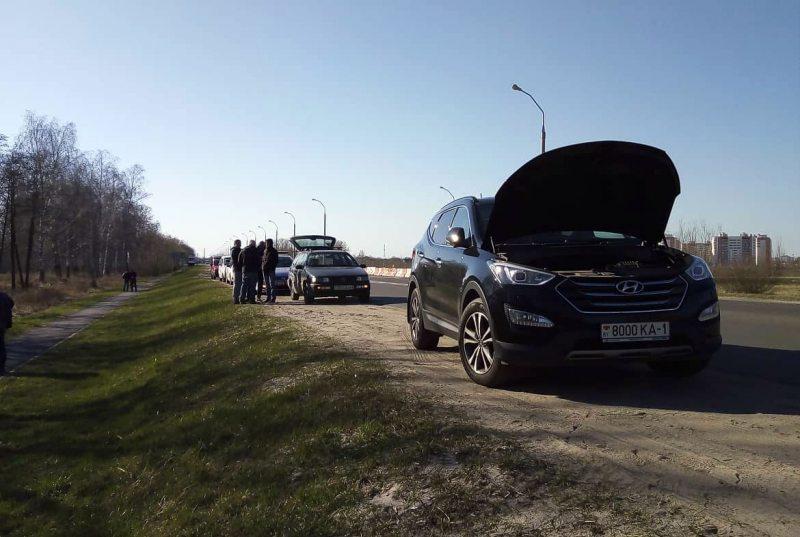 Задержание автомобиля Матвея Майсюка около Бреста.