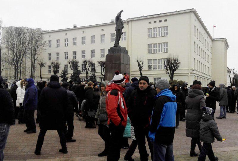 Акцыя супраць будаўніцтва завода АКБ ў Берасці. Фота: Уладзіміра Вялічкіна.