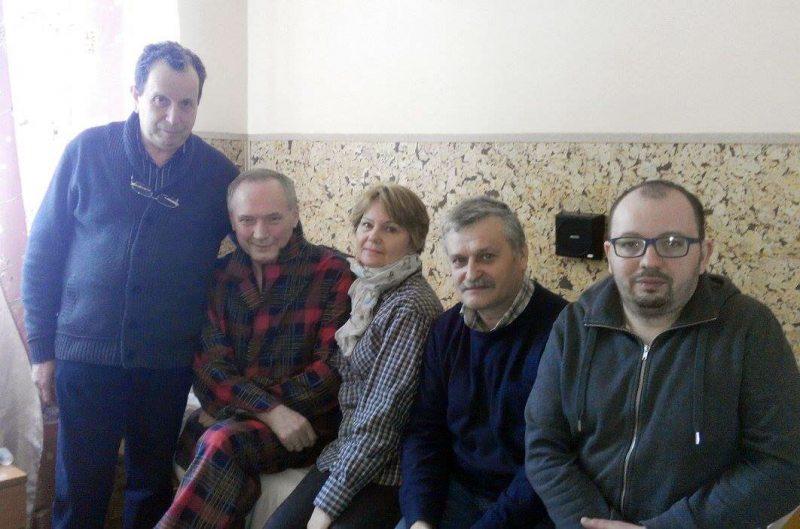 У шпіталі з Някляевым. Берасце, 26 сакавіка 2017 года.