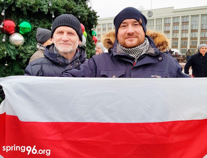 Правозащитники Алесь Беляцкий и Валентин Стефанович.