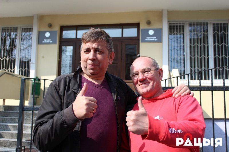 Блогеры Сяргей Пятрухін і Аляксандр Кабанаў. Фота: Беларускае Радыё Рацыя.