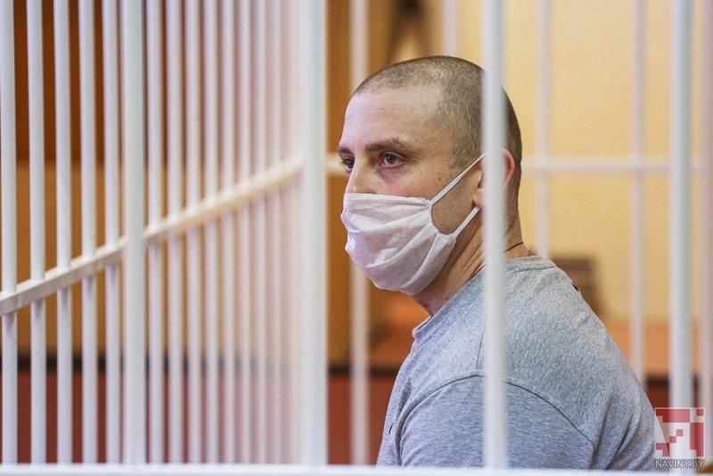 Виктор Борушко в суде. Фото Сергея Сацюка / naviny.by
