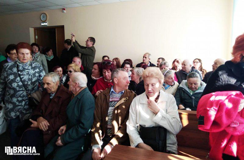 Суд над Анжалікай Борыс 23 красавіка. Фота Віктара Сазонава