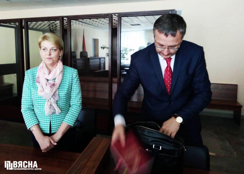 Анжелика Борис в суде. Фото Виктора Сазонова.