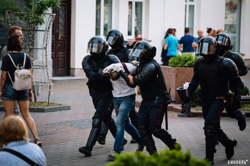 Задержание Кирилла Ляшука попало в кадр binkl.by