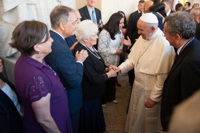Встреча Тамары Чикуновой и Папы Римского Франциска в сентябре 2016 года. Фото из личного архива Тамары Чикуновой