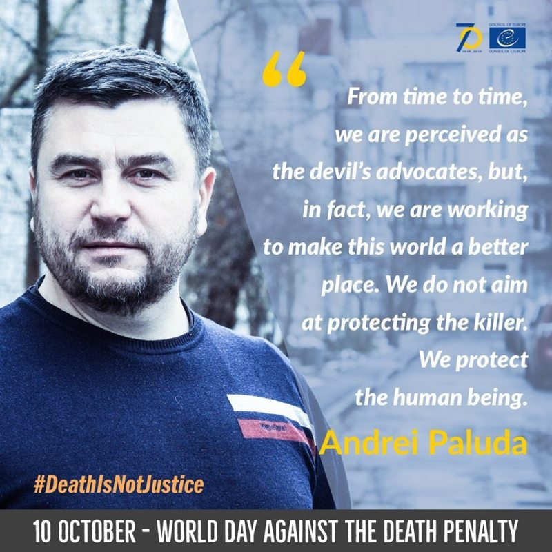 Andrei Paluda, coordinator of the Campaign against the death penalty in Belarus
