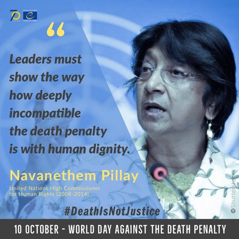 Navanethem Pillay, United Nations High Commissioner for Human Rights (2008-2014) and the International Commission against the Death Penalty