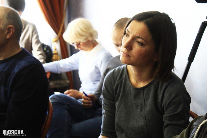 Журналістка Вольга Чайчыц