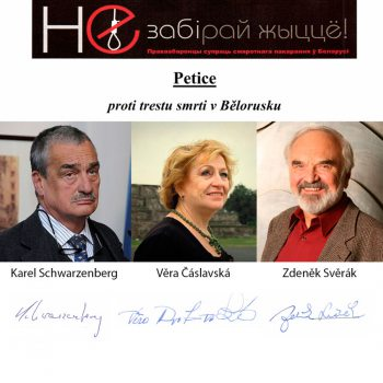 Famous Czechs join campaign against the death penalty in Belarus