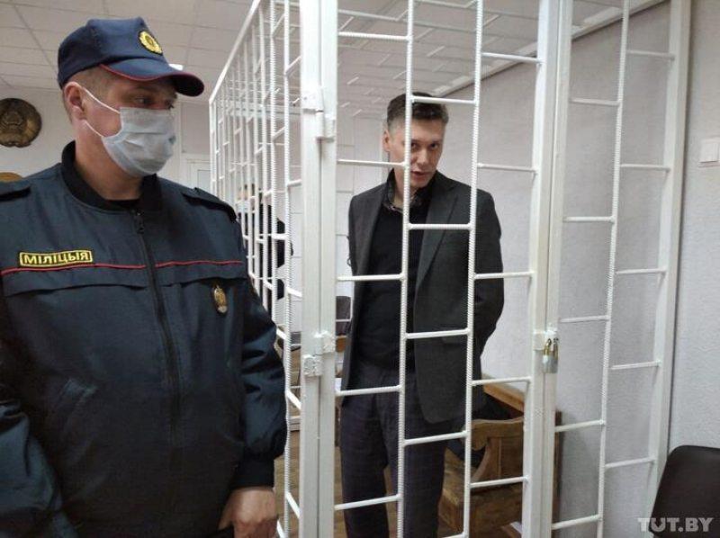 Уладзімір Дудараў у судзе. Фота: TUT.BY