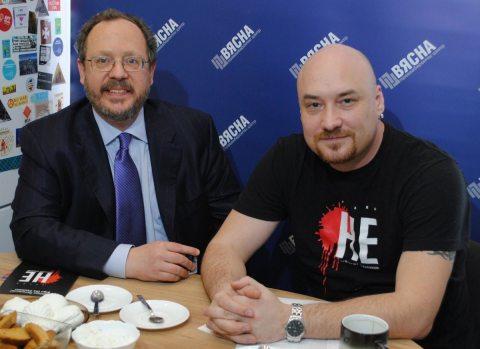 """Роберт Данхэм и Валентин Стефанович в ПЦ """"Весна"""""""