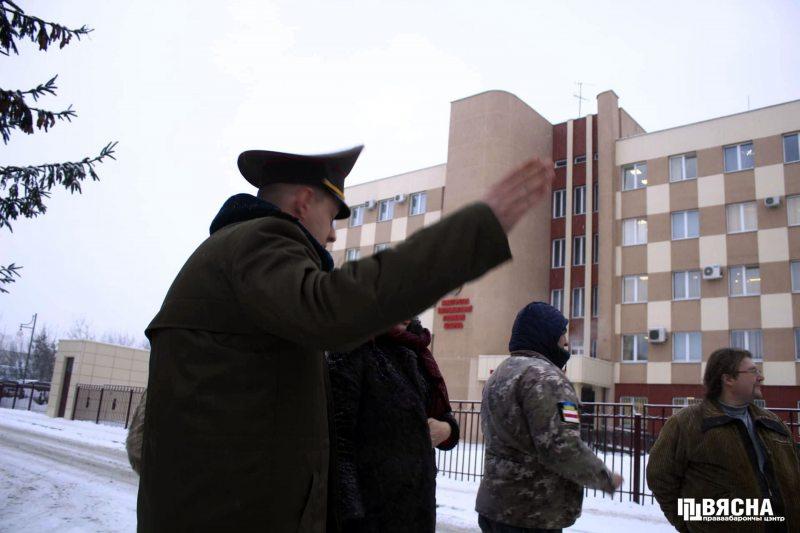 Актывісты каля Дэпартамента выканання пакаранняў.