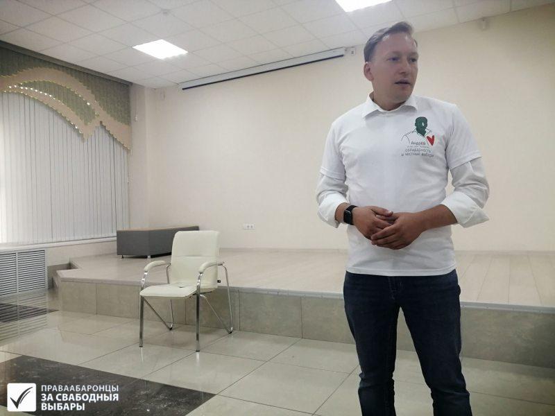 Андрэй Дзмітрыеў на сустрэчы з выбаршчыкамі ў Віцебску