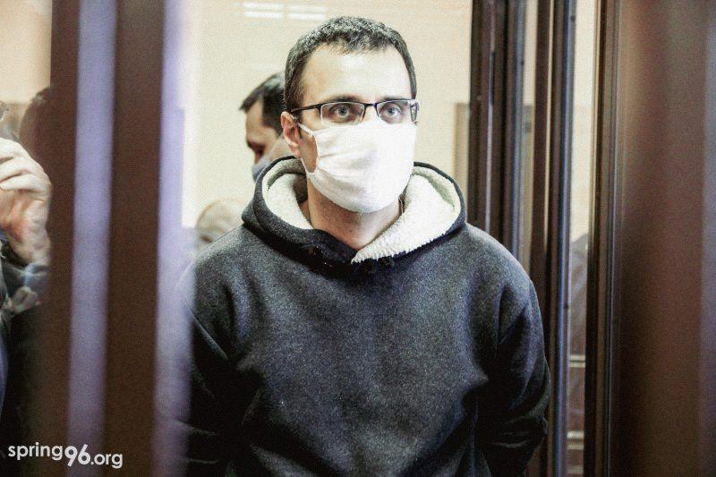 Егор Евстратов на суде в январе. Фото: spring96.org