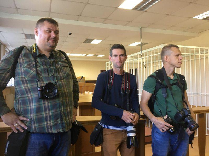 Журналисты перед началом оглашения приговора по
