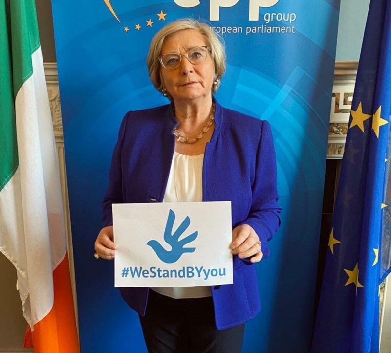 Фрэнсіс Фіцджэральд, дэпутатка Еўрапарламента, былая віцэ-прэм'ер-міністарка Ірландыі і сябра камітэта Еўрапейскага парламента па правах жанчын