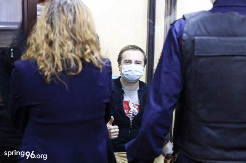 Дзмітрый Фурманаў на судзе 19 студзеня. Фота: spring96.org