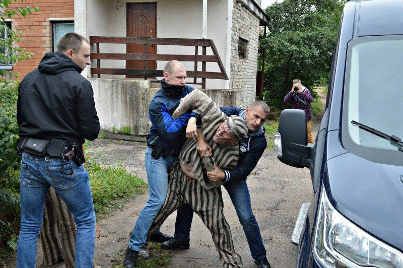 Брутальныя дзеянні гшарадзенскай міліцыі пры затрыманні актывістаў.