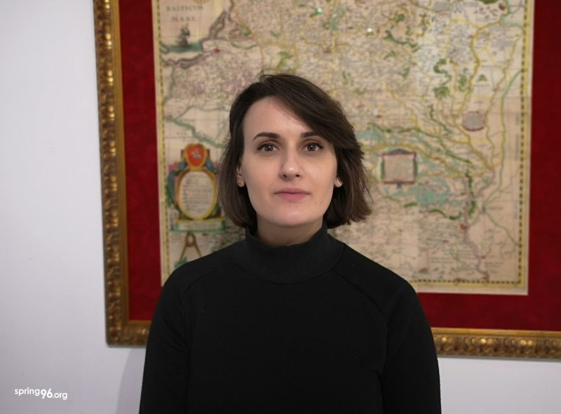 Sviatlana Hatalskaya, coordinator of the initiative March, Baby