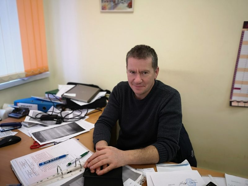 Алег Граблеўскі. Фота: Беларускае Радыё Рацыя.