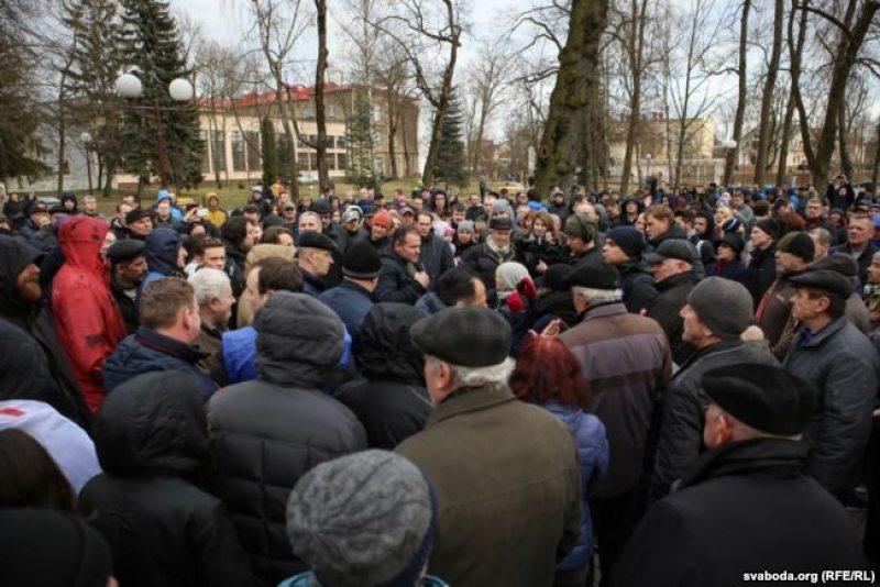 Марш недармаедаў у Гародні 15 сакавіка