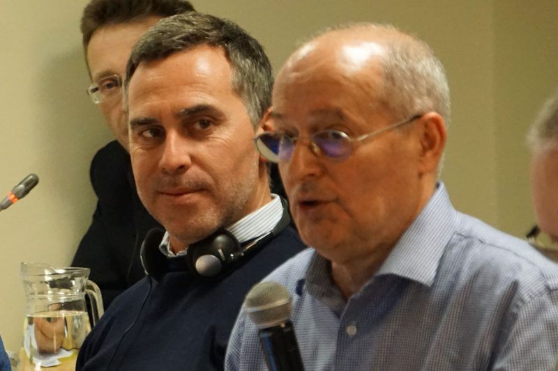 Александр Жирар и Миклош Харасти. ДПЧ в Вильнюсе, 31 января 2018 г.