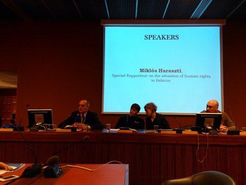 Презентация отчета FIDH и ПЦ «Вясна» в СПЧ ООН в Женеве. 6 марта 2014 г.